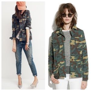 Madewell outbound jacket in camo